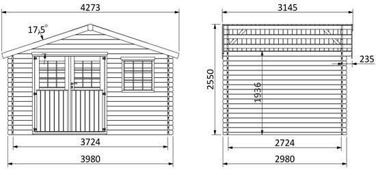 dimensioni casetta legno