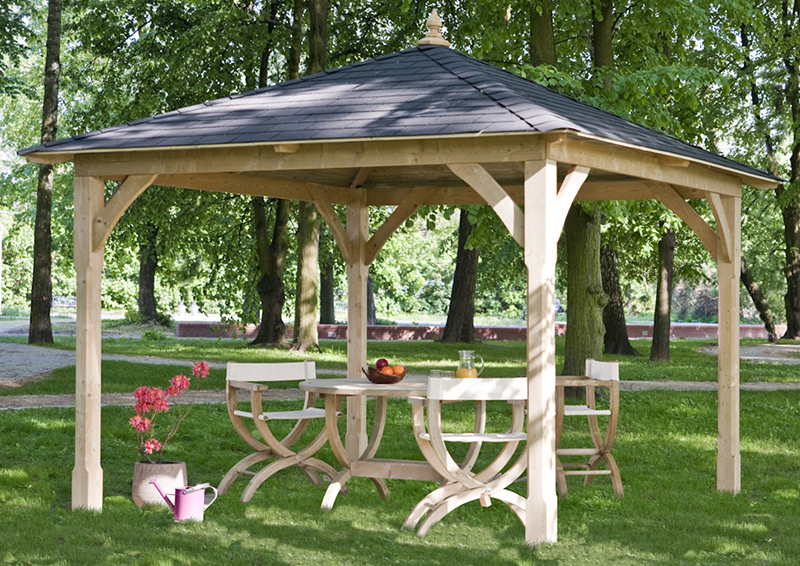 Gazebo a baldacchino da giardino in legno canopy arredo for Gazebo arredo giardino