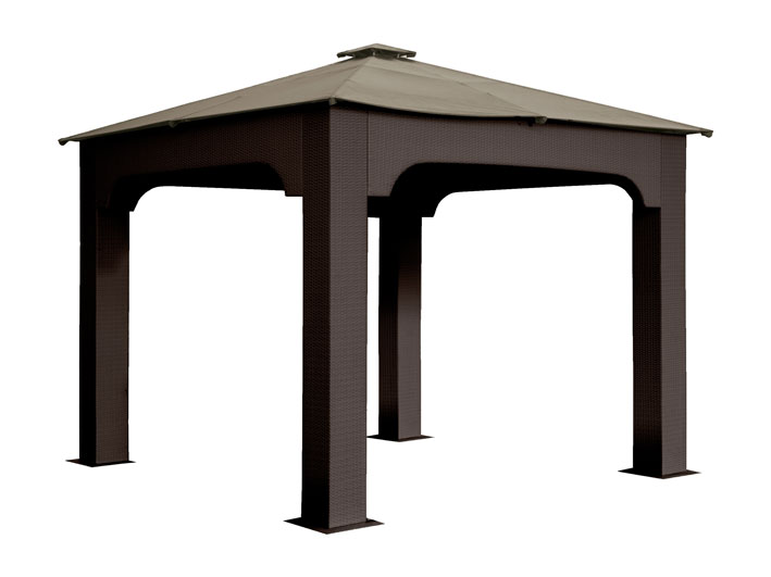 Gazebo in wicker sintetico 3x4 mt