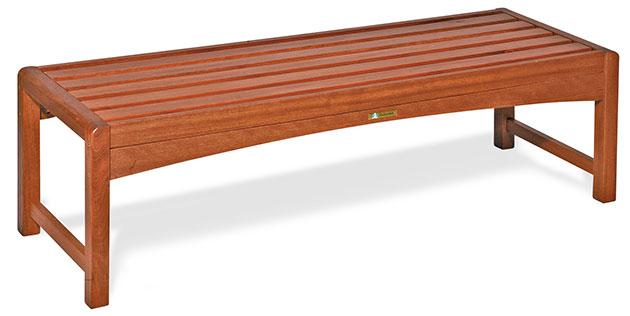 Panca da giardino in legno di keruing GENZIANA 120 x 30 cm
