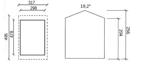 dimensioni garage in legno giamaica