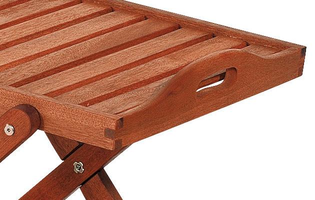 Carrello portavivande e bar in legno di keruing GINEPRO
