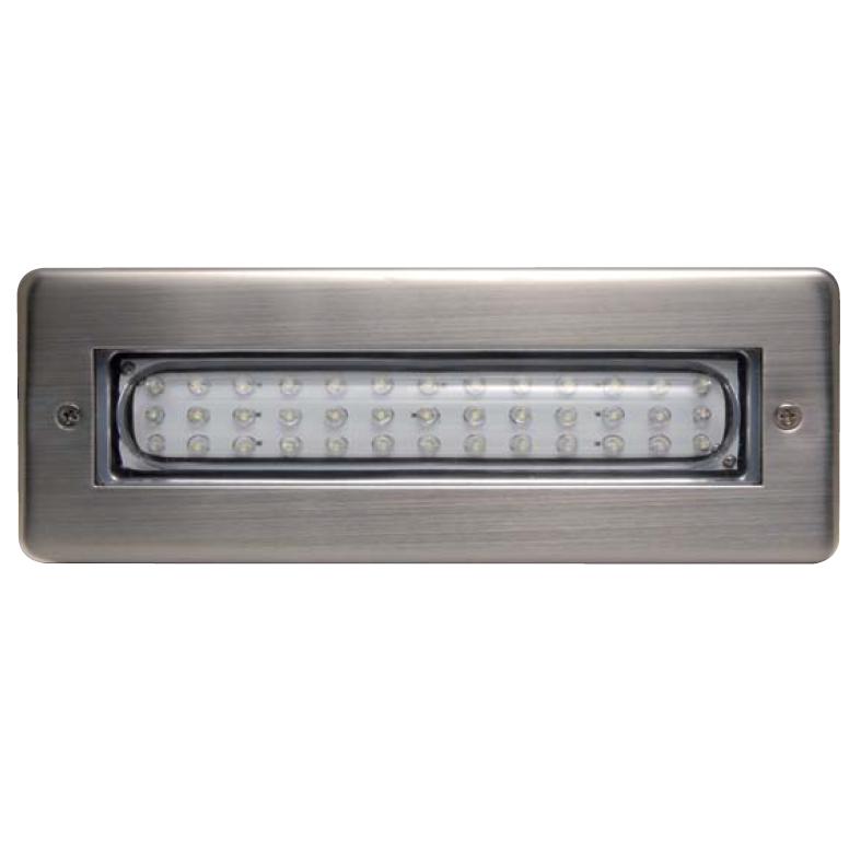 Lampada in inox a incasso da muro GIOTTO 2 a LED da 3,2 W