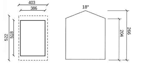 dimensioni garage in legno golden
