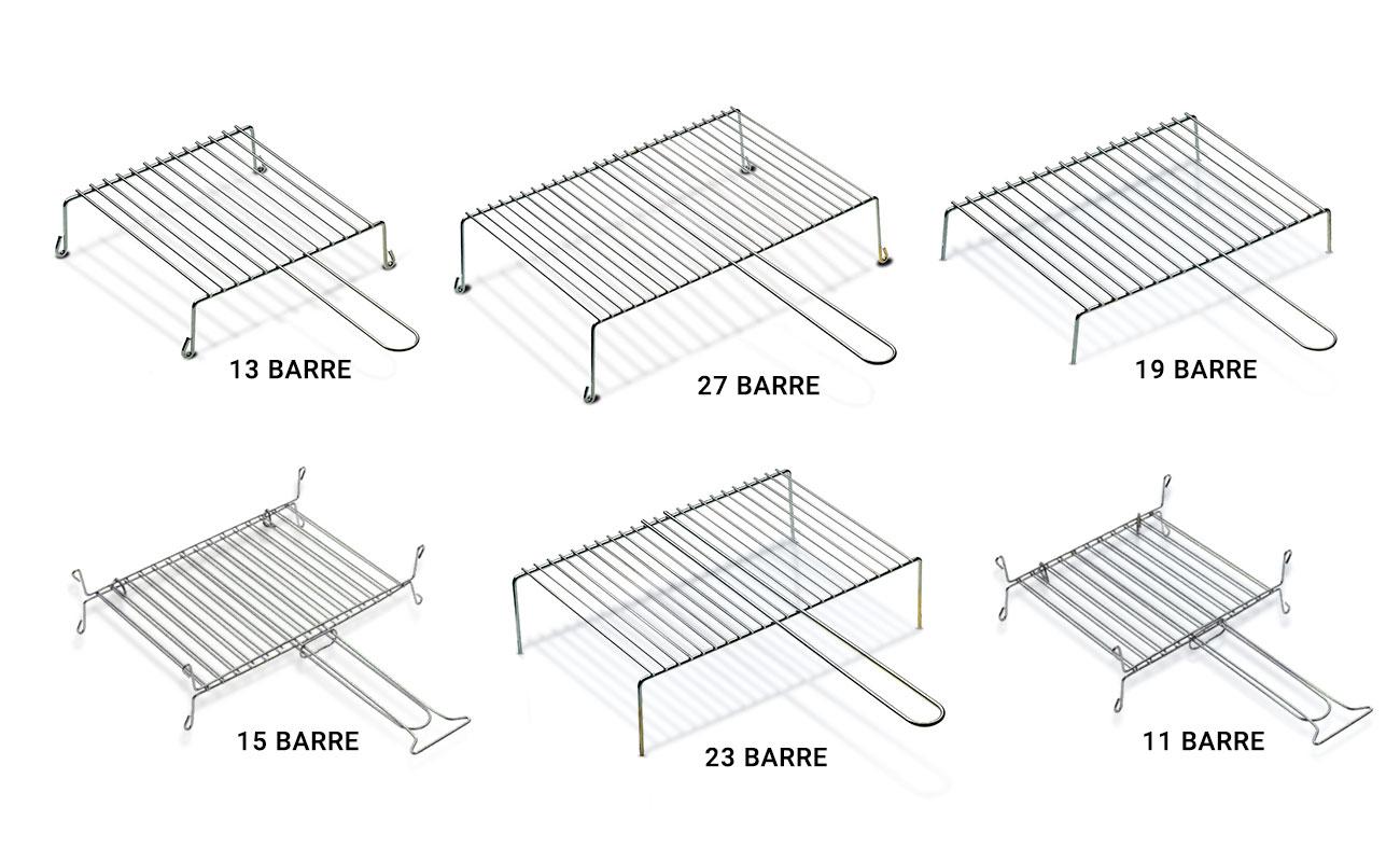 Griglia semplice a 5 e 9 barre