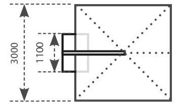 Ombrellone 3x3 da esterno