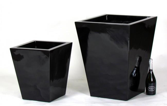 Vaso Nero laccato lucido