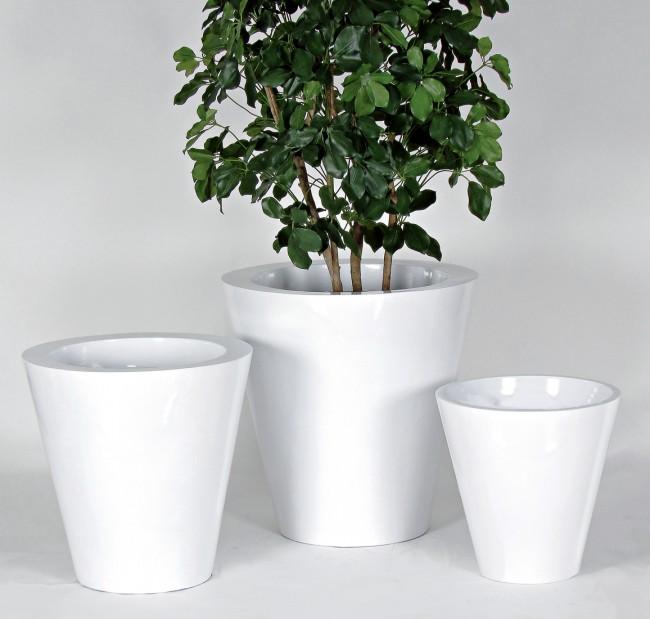 Vaso laccato bianco lucido