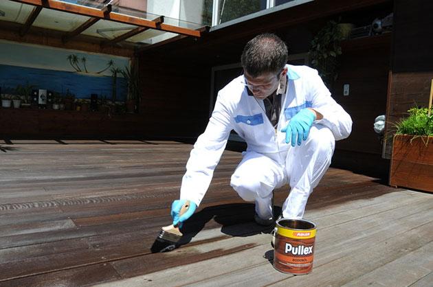Kit di manutenzione per pavimenti da esterni in legno