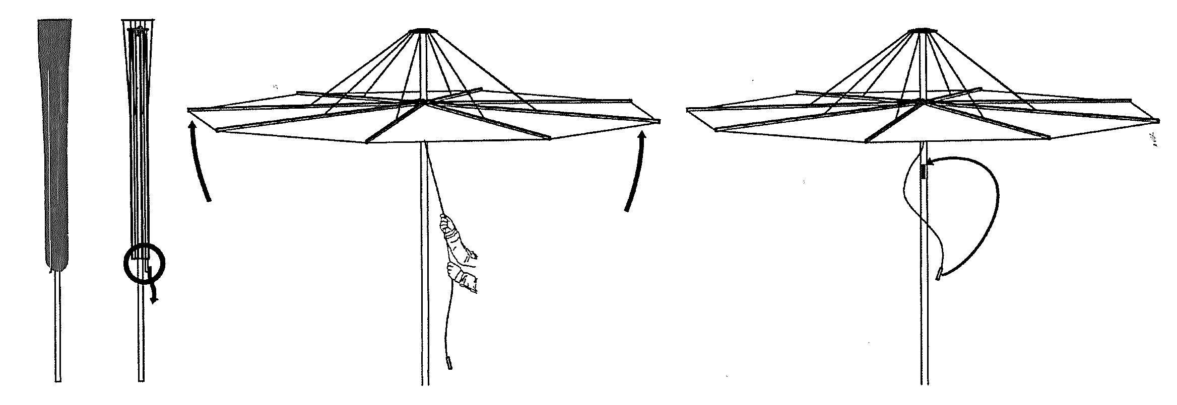installazione ombrellone infina umbrosa