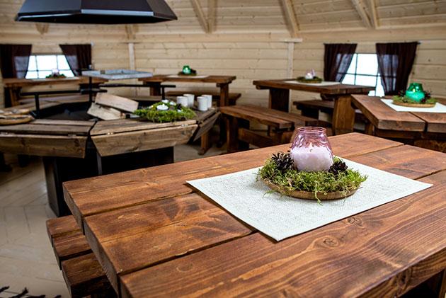 Casetta in legno IRIDE con barbecue