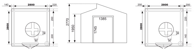 Dimensioni casetta konigsberg