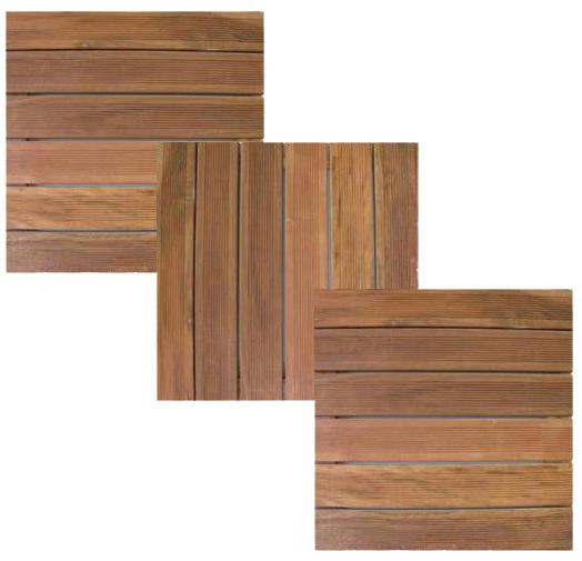 Pavimentazione in quadrotte di legno per esterni in KURUPAY 50x50x3,8 cm, vendita al Mq  Arredo ...