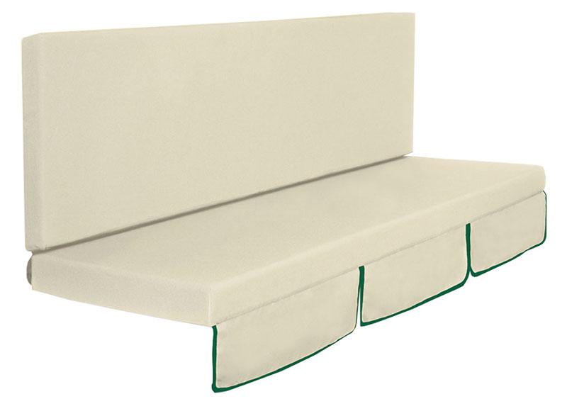 High Quality Cuscino Dondolo Mod. Larice A 2 O 3 Posti, Colore Verde O Ecru