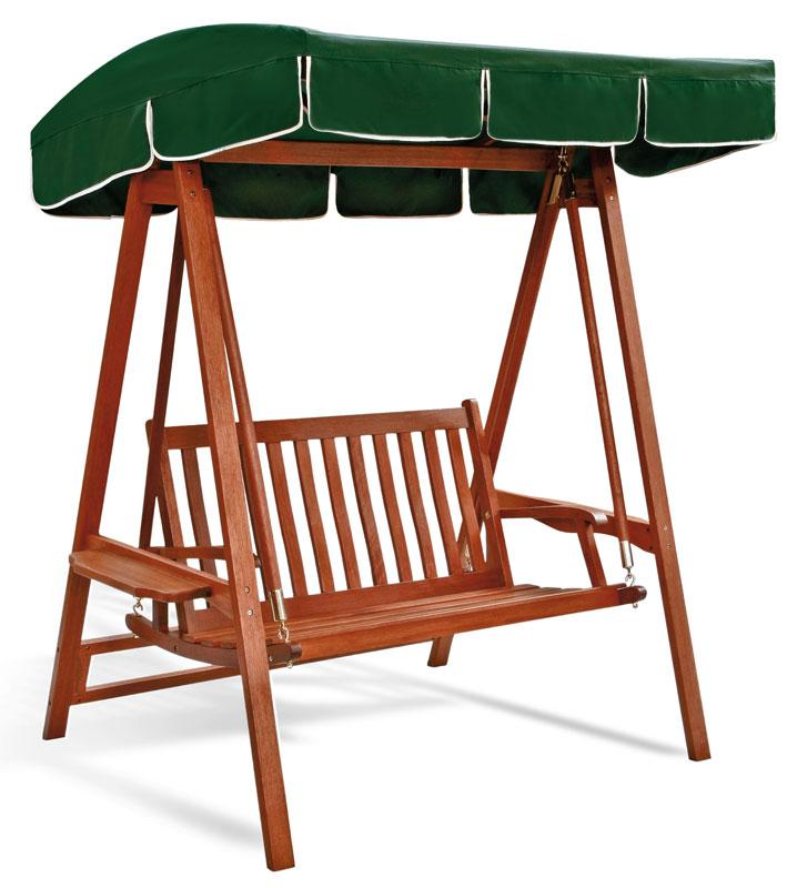 Dondolo in legno di keruing larice a 2 e 3 posti doppio for Telo copri dondolo 3 posti