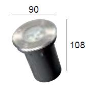 dimensioni lampada a incasso