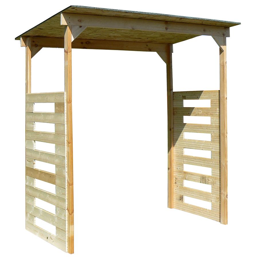 Baule da giardino in legno