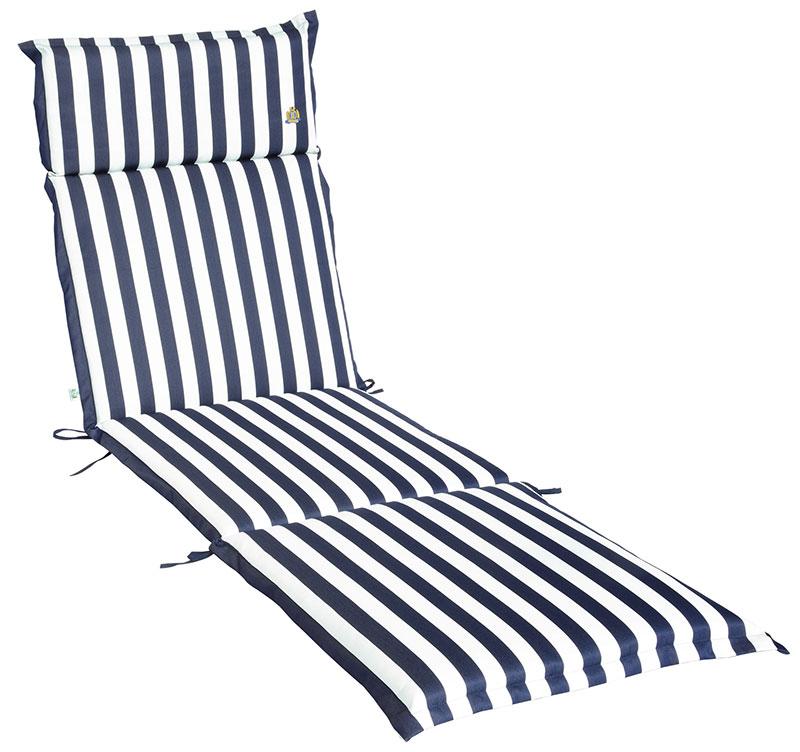 Cuscino per lettino prendisole 196x58 cm con volant