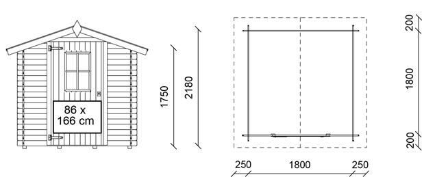 Dimensioni casetta in legno londra