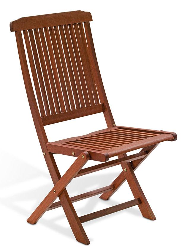 Sedia pieghevole in legno di keruing MAGNOLIA