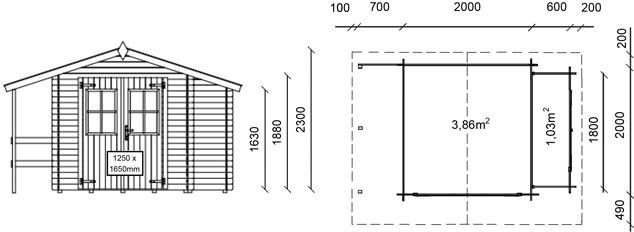 dimensioni casetta in legno margherita