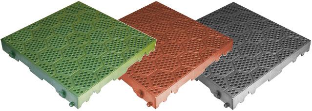 Mattonella in PVC forata con motivo esagonale - 40 x 40 cm
