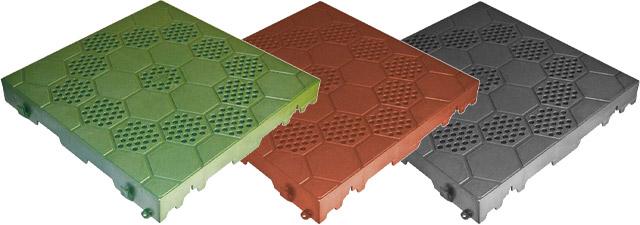 Mattonella in PVC semiforata con motivo esagonale - 40 x 40 cm