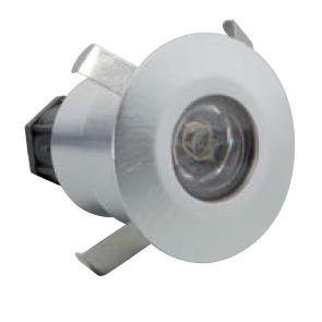 Lampada a incasso da muro in inox MICHELANGELO a LED rotonda