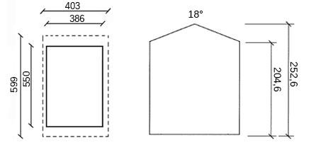 dimensioni garage in legno milord
