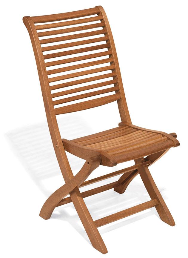 Sedia e poltrona pieghevole in legno di keruing MIMOSA