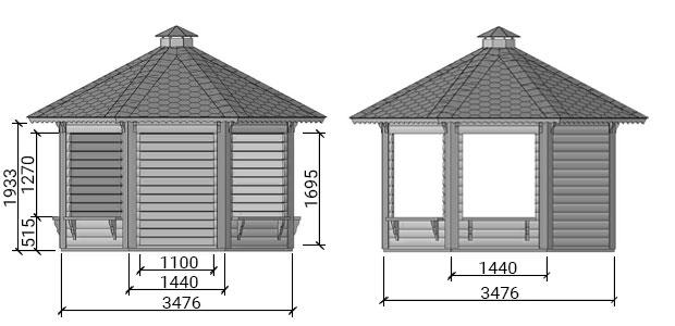 dimensioni chiosco teti