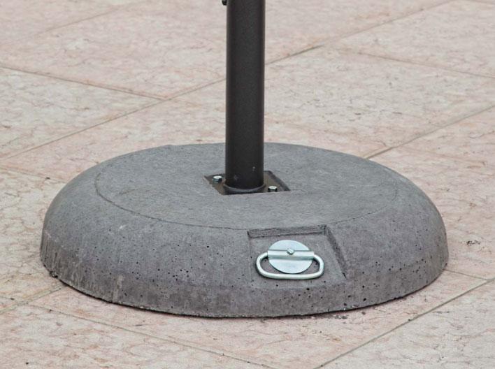 Base rotonda con maniglie per ombrellone