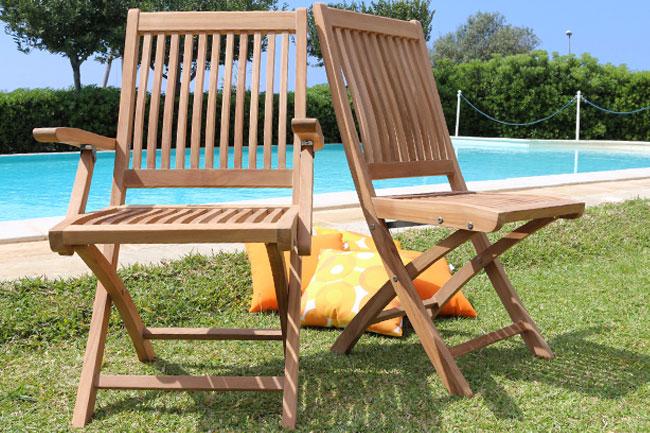 Seduta NAOMI in legno di teak