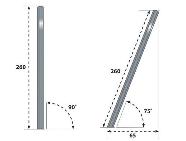 Pali in alluminio per vele ombreggianti Regarden