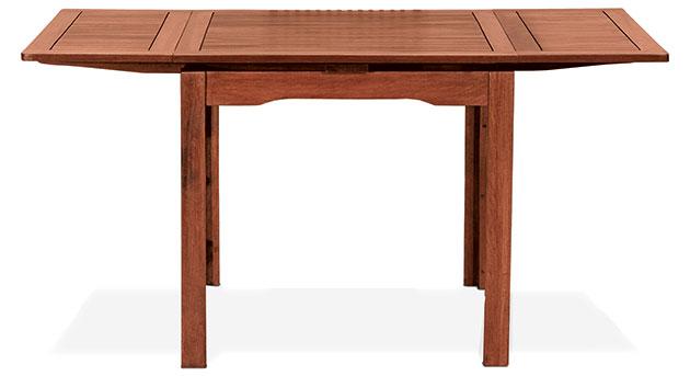 Tavolo allungabile PALMA in legno di keruing