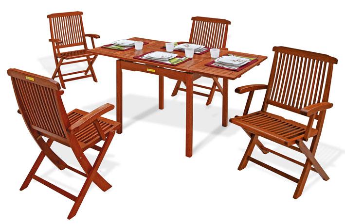Set pranzo da giardino in legno PALMA/MAGNOLIA