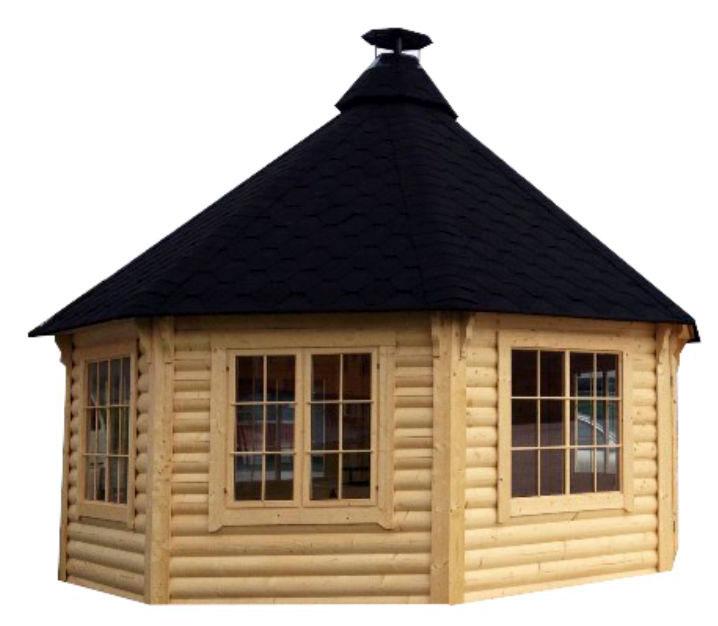 Casetta in legno Nefele con barbecue