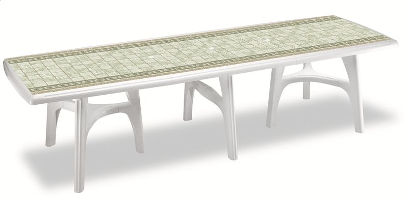 Tavolo da giardino president 3000 in resina allungabile by - Tavolo in pietra da giardino ...