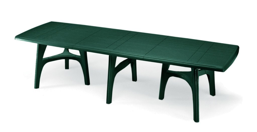 Tavolo da giardino president 3000 in resina allungabile by for Mobili da giardino in plastica