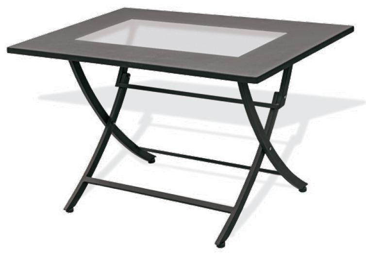 Tavolo pieghevole in ferro iron rettangolare 120x80 cm for Ferro tubolare quadrato prezzo
