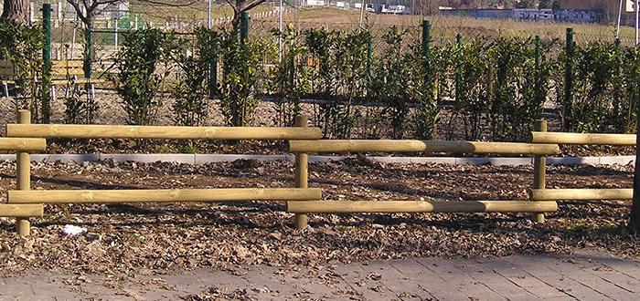Recinzione con mezzi pali RANCH in legno di pino