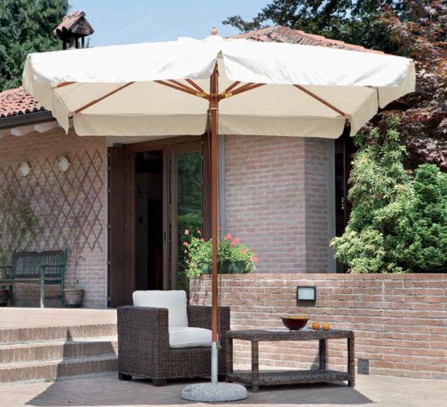 Ombrellone roma quadrato 3x3 mt in legno for Arredo giardino roma