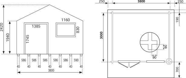 Dimensioni casetta da esterno rosita