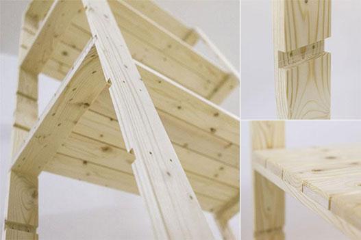 scaffali in legno