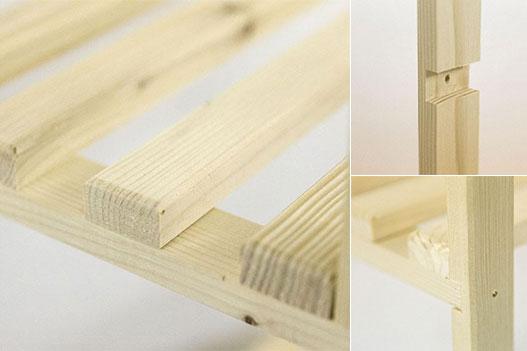 scaffale in legno