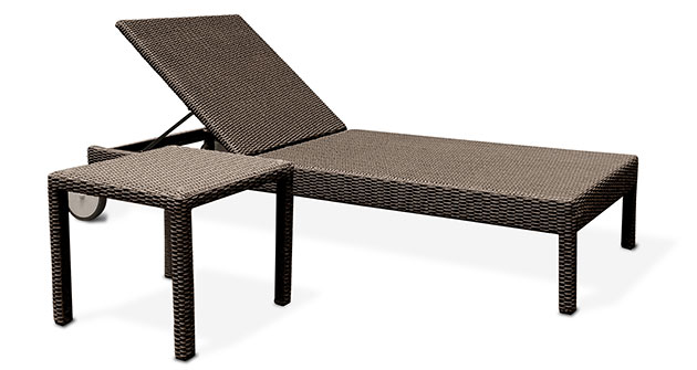 Lettino prendisole in wicker SPRINGFIELD