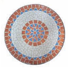 Set bistrot con mosaico TAORMINA, pieghevole