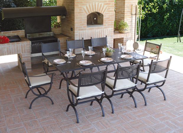 Arredo giardino in ferro battuto mobilia la tua casa - Mobili in ferro per esterno ...