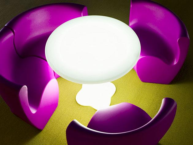 Tavolo TEDDY goffrato con illuminazione by Myyour