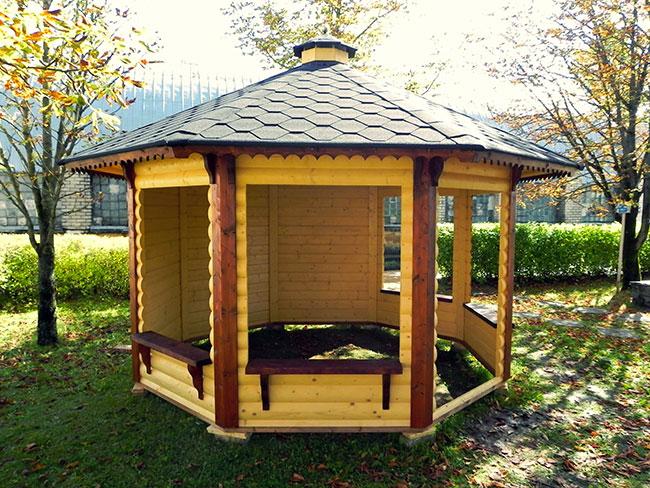 Casetta in legno TETI semiaperta